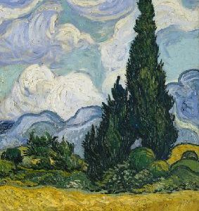 Notebook Wheat Field with Cypresses - Vincent van Gogh