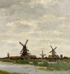 Carnet de însemnări - Mori de vânt, Claude Monet, format mic