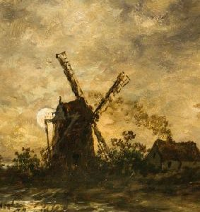 Carnet de însemnări - Moară de vânt, Egide Leemans, format mic