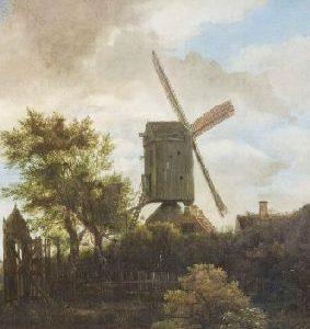 Carnet de însemnări - Moară de vânt, Jacob van Ruisdael, format mic