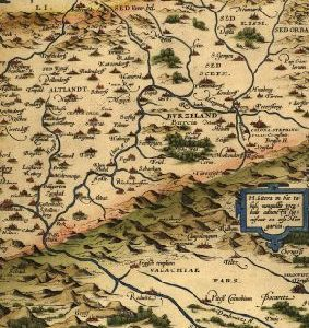 Notebook – Old map – Abraham Ortelius