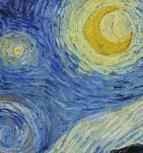 Notebook – Vincent van Gogh – Starry Night (fragment)