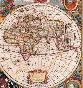 Notebook – Old map – Henricus Hondius