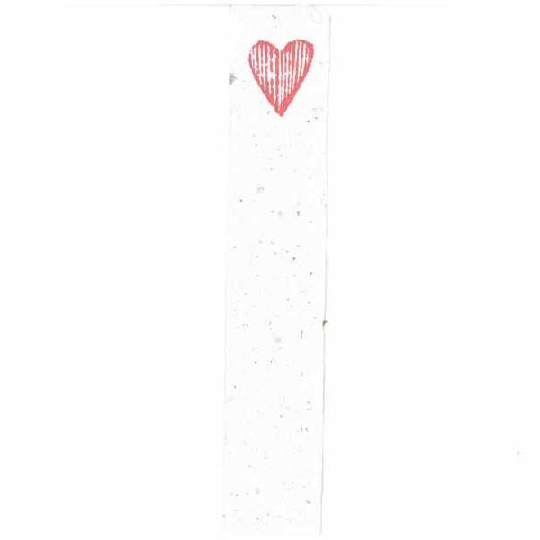 Semn de carte inima rosie