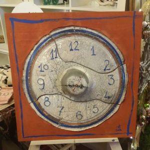 Raku Ceramic Clock