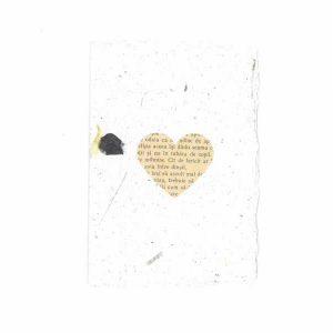 Felicitare inimă din carte veche