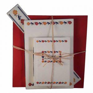 Set cadou cu motive tradiționale din zona Teleorman (model 2)