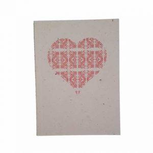 Carnet de însemnări cu motiv tradiţional din Vlaşca (inimă), format mare